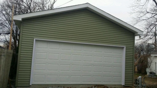 Newly Constructed Garage