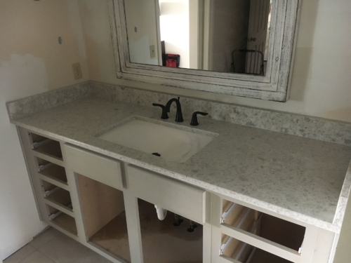 Quartz Vanity Countertop Installation