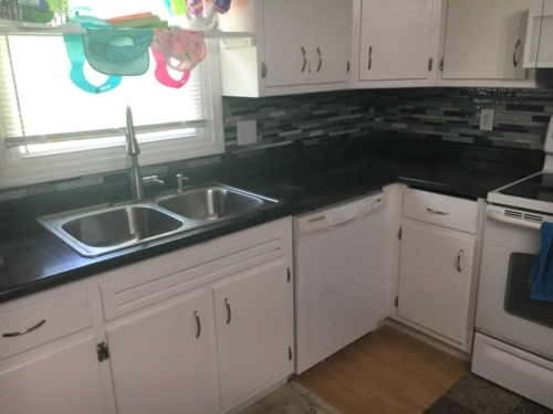 Laminate Countertop & Tile Backsplash Installation