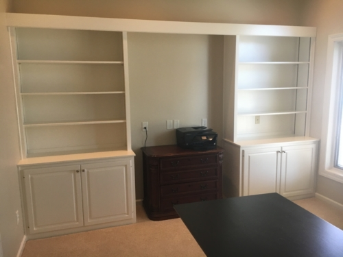 Office & Entertainment Center Cabinet Refinishing