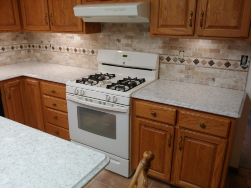 Quartz Countertop Replacement & Tile Backsplash Installation
