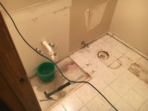 11 Bathroom In Progress.