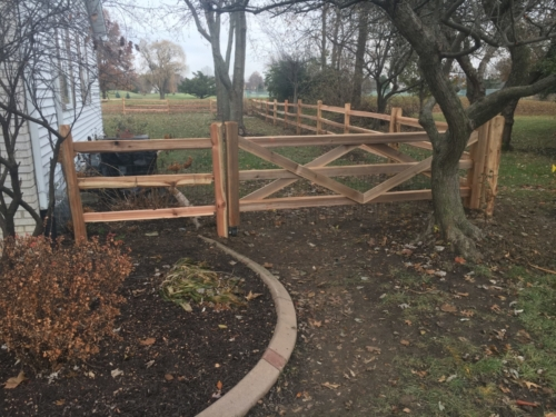 Split Rail Fence Replacement